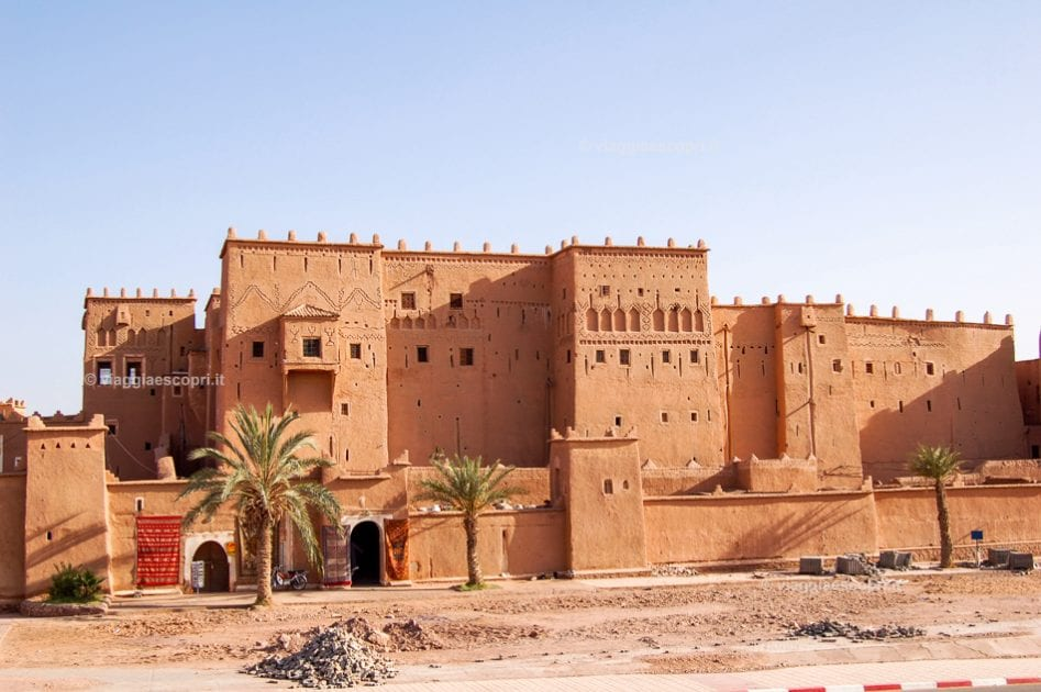 Kasbah Taourirt a Ouarzazade, fotografie del Marocco