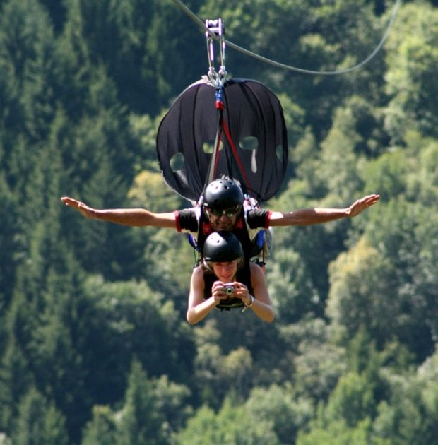 Fly Emotion, zip line in Lombardia in provincia di Sondrio