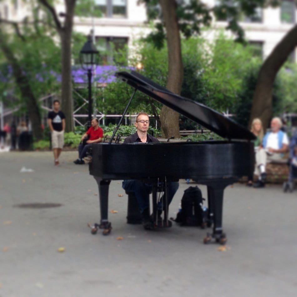 New York, pianista in Washington Square