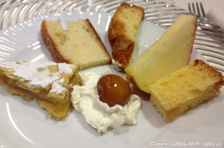 Gusto in quota, assortimento di dolci del territorio