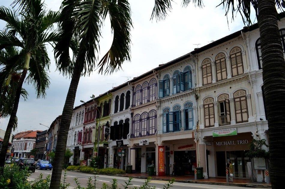 Visitare Singapore, shophouse in centro città