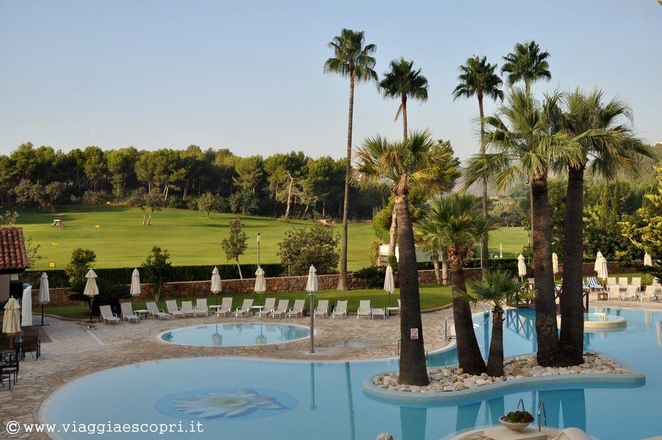 La piscina e i campi da golf del Denia Marriott La Sella Golf Hotel, fotografie di Denia