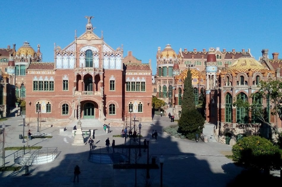 Recinto Modernista hospital Santa Creu Sant Pau, Barcellona gay
