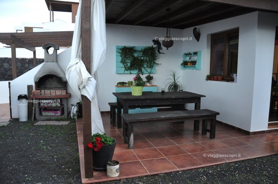 Veranda di Casa Iside, B&B gay friendly a Lanzarote