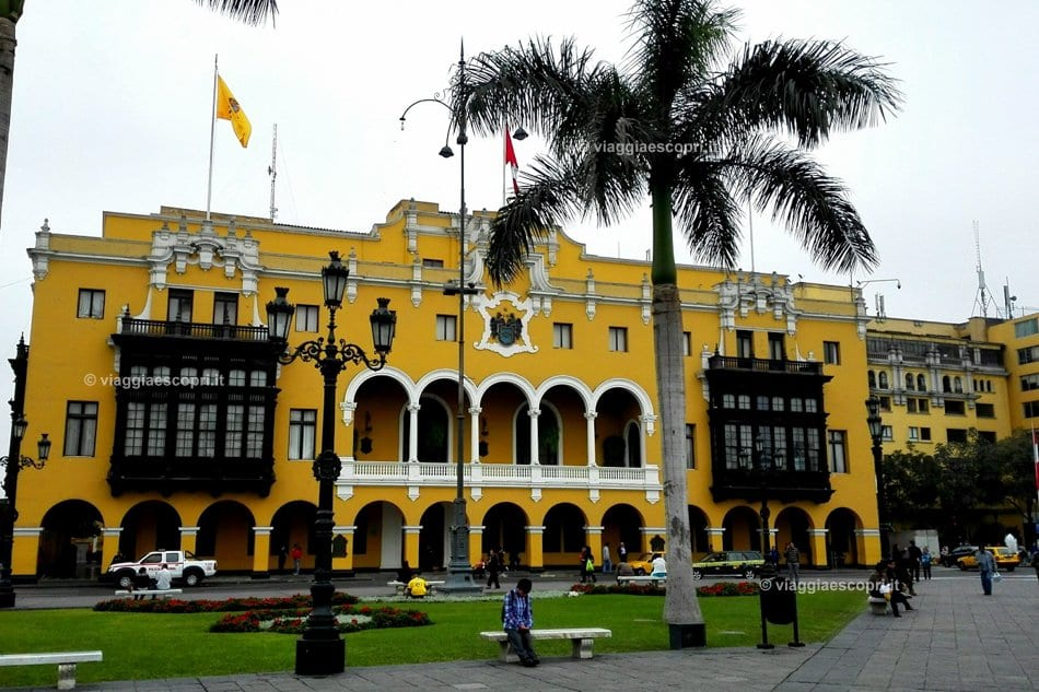 Plaza Mayor a Lima, viaggio in Perù