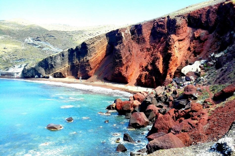 Red Beach, Santorini, fuga in Grecia