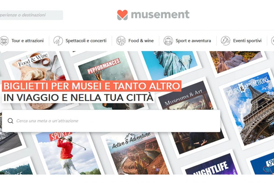 Home page di Musement